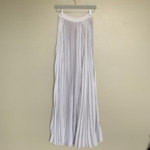 Vici pastel blue pleated high waisted maxi skirt S